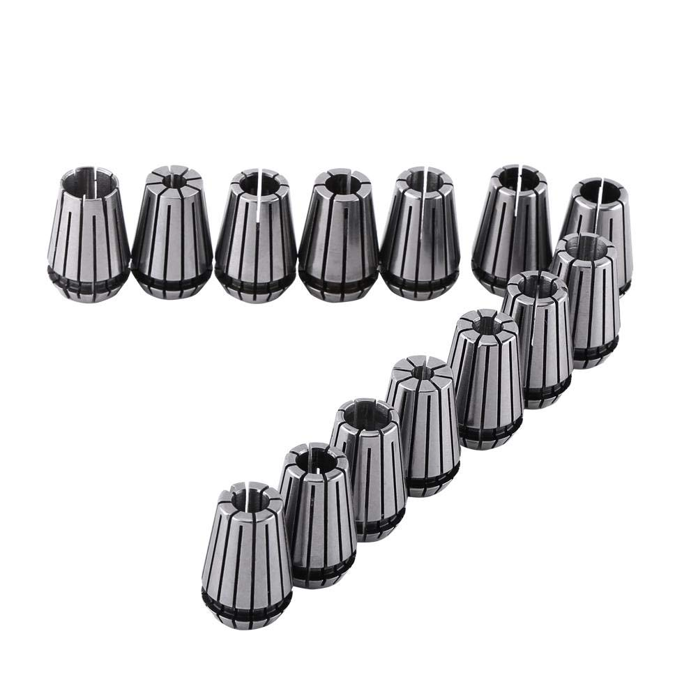 14pcs ER20 Spring Collet Set for CNC Engraving Machine and Milling Lathe Tool,1//16~1//2