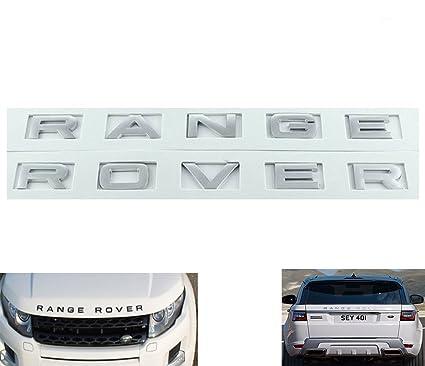 Emblema Insignia Letras 3D Range Rover Plata Mate Logo ...
