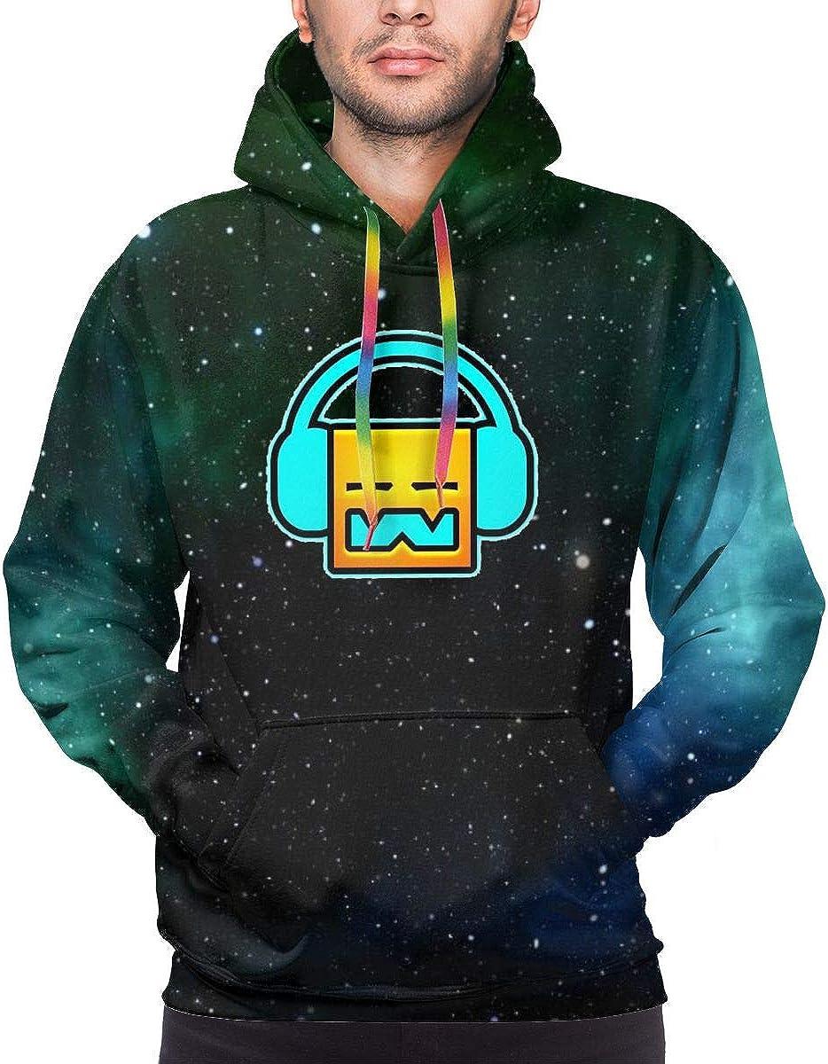 Ge-om-etry Music Da-sh Men's Sweatshirt Hooded Pullover Hoodie Long Sleeve Color Drawstring