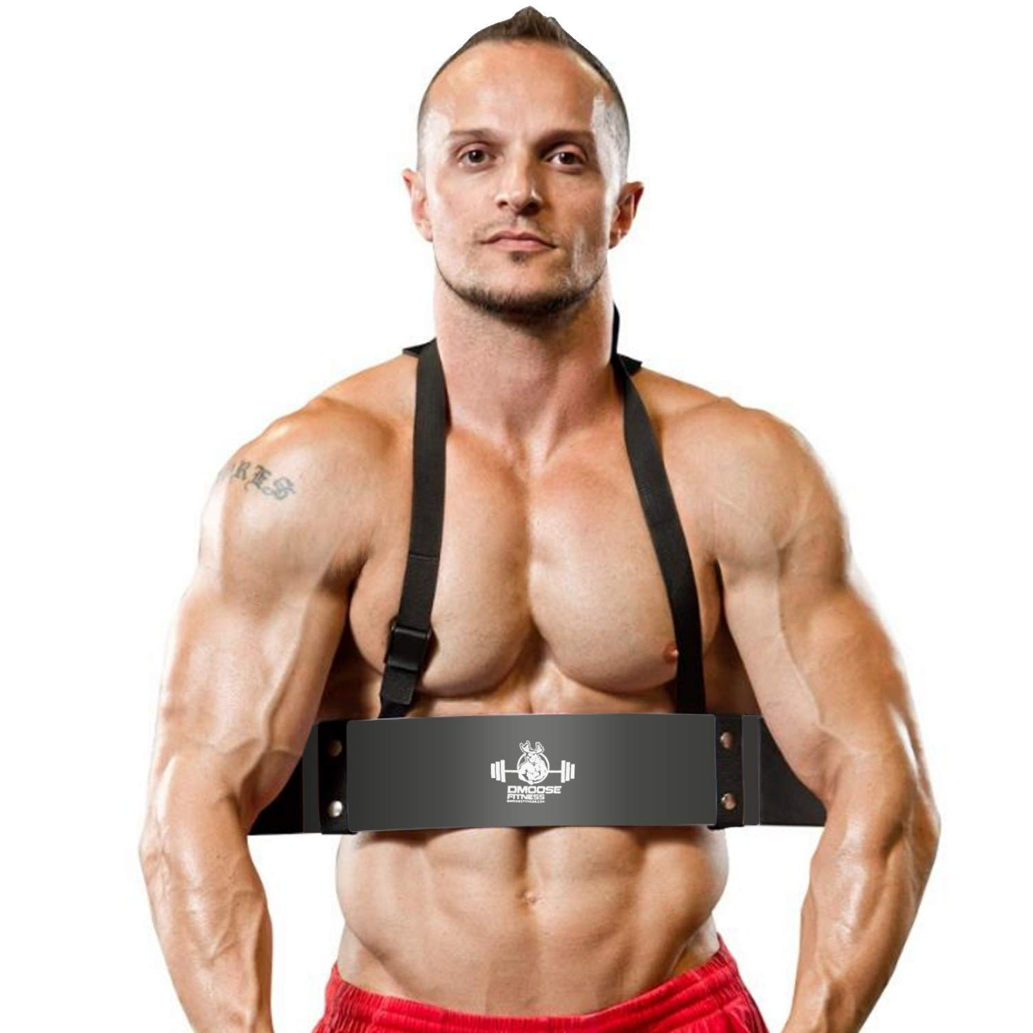 Premium Grade Bodybuilding Bicep Isolator DMoose Fitness Arm Curl Blaster Thick Gauge Aluminum Improve Definition /& Muscle Strength in Your Arms Robust Rivets Contoured /& Adjustable