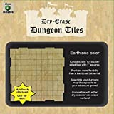 Role 4 Initiative Dry Erase Dungeon Tiles, Earthtone, Set of Nine 10'' interlocking squares for role-playing and miniature tabletop games