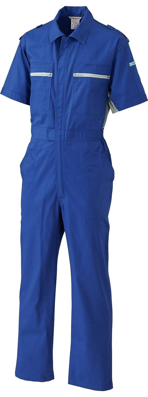 [サンディスク]SUN DISK【ツナギ服】夏用 綿100% ヒノマルカット 3W COLLAR サイドメッシュ 薄手タイプ 半袖ツヅキ服《044-168/163/162》 B01FB4VXIW LL|163-ブルー 163-ブルー LL