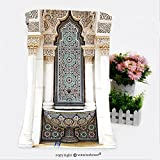 VROSELV Cotton Microfiber Bathroom Bath Towel-the unique of islamic moroccan architecture traditional design Custom pattern of household products(19.7''x39.4'')