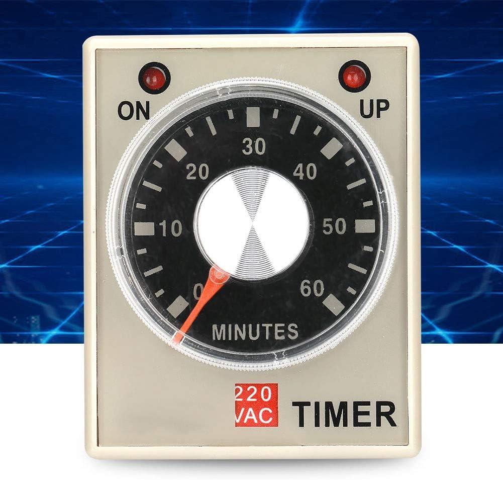 Minuterie de relais temporis/é 220VAC 6//10//30//60 Minutes Minuterie d/élai mise sous tension 6M