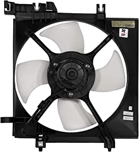 DNA MOTORING OEM-RF-0254 SU3115116 Factory Style Radiator Cooling Fan Assembly Replacement
