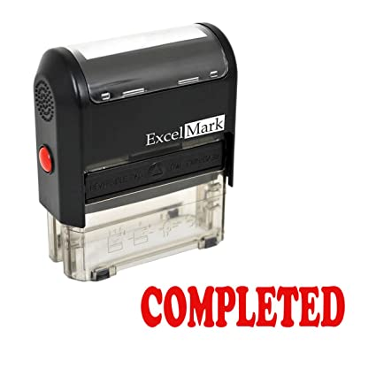 Amazon COMPLETED Self Inking Rubber Stamp