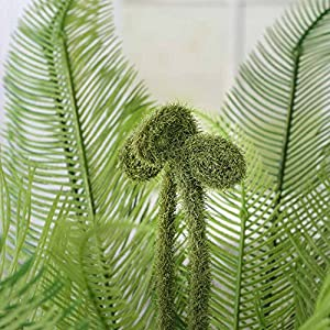 Factory Direct Craft Decorative Artificial Fern and Fiddlehead Bush for Decorating, Creating and Embellishing 3