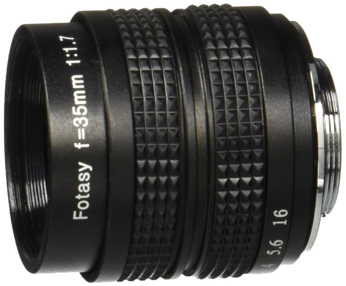 Fotasy M3517 35MM F1.7 TV Movie Lens and Lens Adapter Kit for Olympus Panasonic MFT Micro 4/3 M43 Cameras