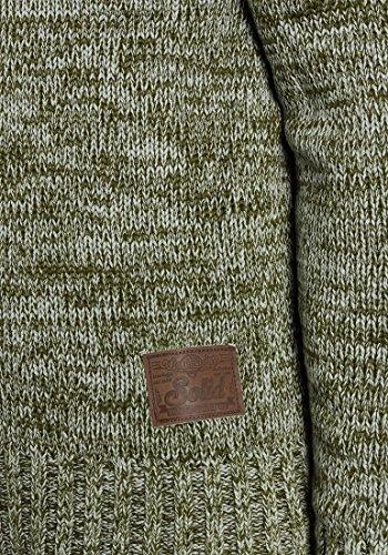 Prospero cuello Jumper Solid Knit algod Sweater 100 con Knit chal 11Zrxwq