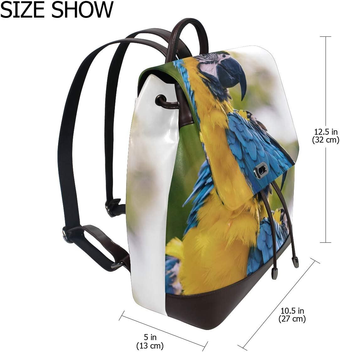 Shopping Bag Storage Bag For Men Women Girls Boys Personalized Pattern Yellow And Blue Macaw Travel Bag School Bag Backpack