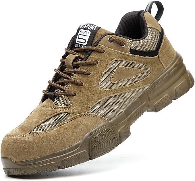 Dxyap Zapatos de Seguridad Zapatos Trabajo con Punta de