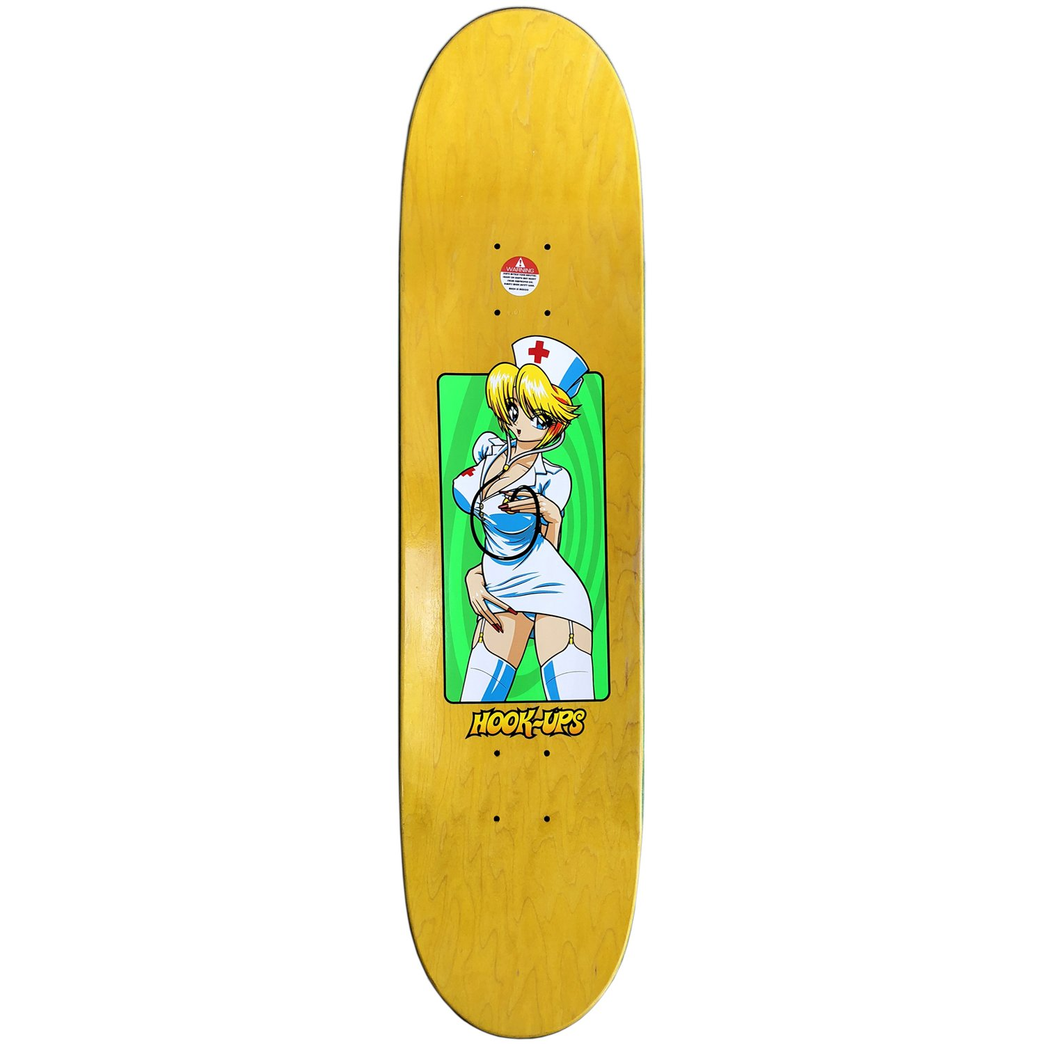 Hook Ups Skateboard Deck Nurse Girl Nikki 8.0'' by Hook Ups (Image #2)