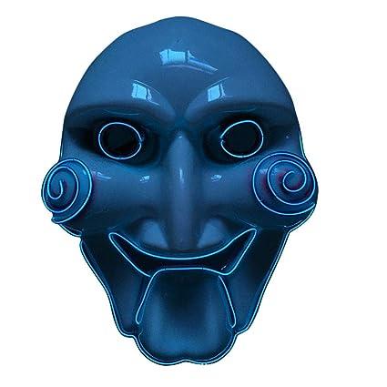 Halloween LED Máscaras - Mascaras de Halloween, Para la Navidad Halloween Cosplay Grimace Festival Party