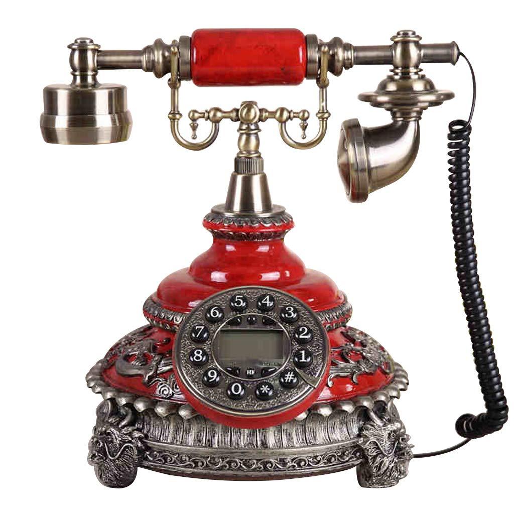 家の固定電話、レトロなヴィンテージアンティーク有線固定の家の電話やオフィスの装飾、から選択するスタイルのバラエティ (三 : B) B07JJF5Y1W B