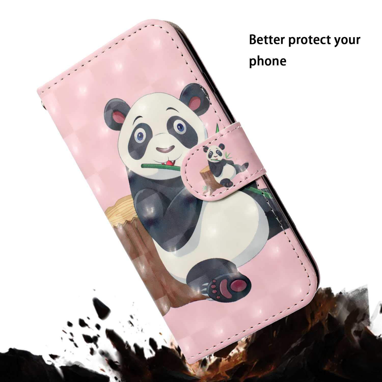 Carcasa de Cuero Protectora Billetera con Ranura para Tarjetas y Cierre Magn/ético para Samsung Galaxy S6 DENDICO Funda Galaxy S6 Pantera
