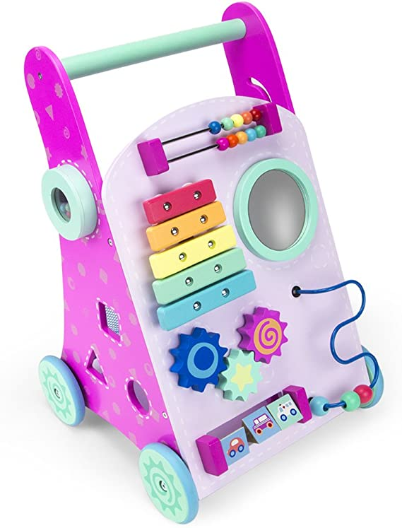 Amazon.com: Rosa push-n-play Madera Aprendizaje Walker ...