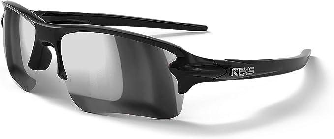 REKS 100/% UV Unbreakable SLING-BLADE Sunglasses Satin Touch Black Silver Mirror