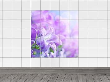 Piastrelle adesivo piastrelle immagine violette fiori flisen di