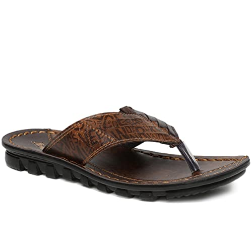 af402f2ef2c PARAGON Vertex Men s Brown Flip-Flops  Buy Online at Low Prices in India -  Amazon.in
