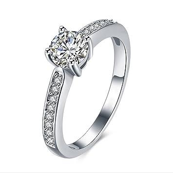 Skyllc® Moda 18K RGP anillos de boda de la diosa chapado en oro los anillos