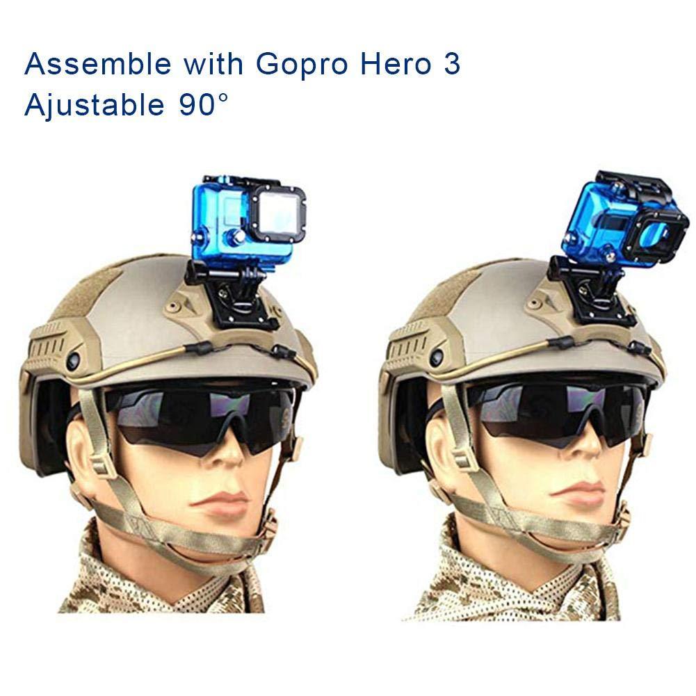 L/â Vestmon Accessori per elmetto tattico Staffa Anteriore Supporto per Braccio di Estensione per videocamera Gopro Action
