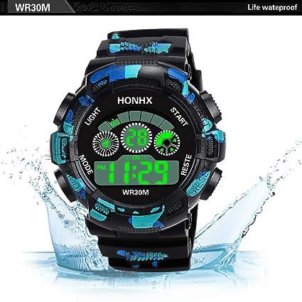 Reloj Deportivo Digital, Camuflaje al Aire Libre, Resistente al Agua, Reloj