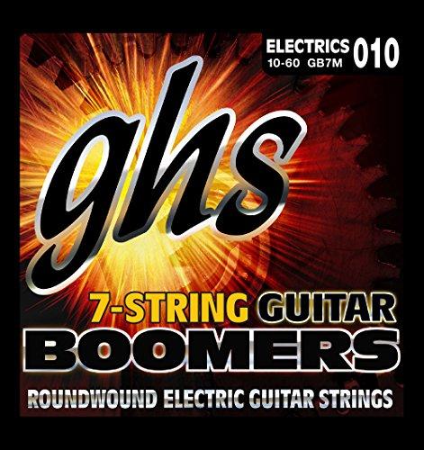 GHS Strings GB7M 7-String Guitar Boomers, Nickel-Plated Electric Guitar Strings, Medium (Steel 7 String Electric Guitar)
