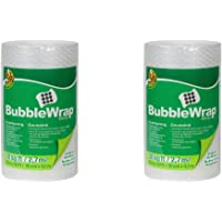 Duck Brand Bubble Wrap Original Protective Packaging, 12 Inches Wide x 30-Feet Long, Single Roll (393251), Clear- 2PACK