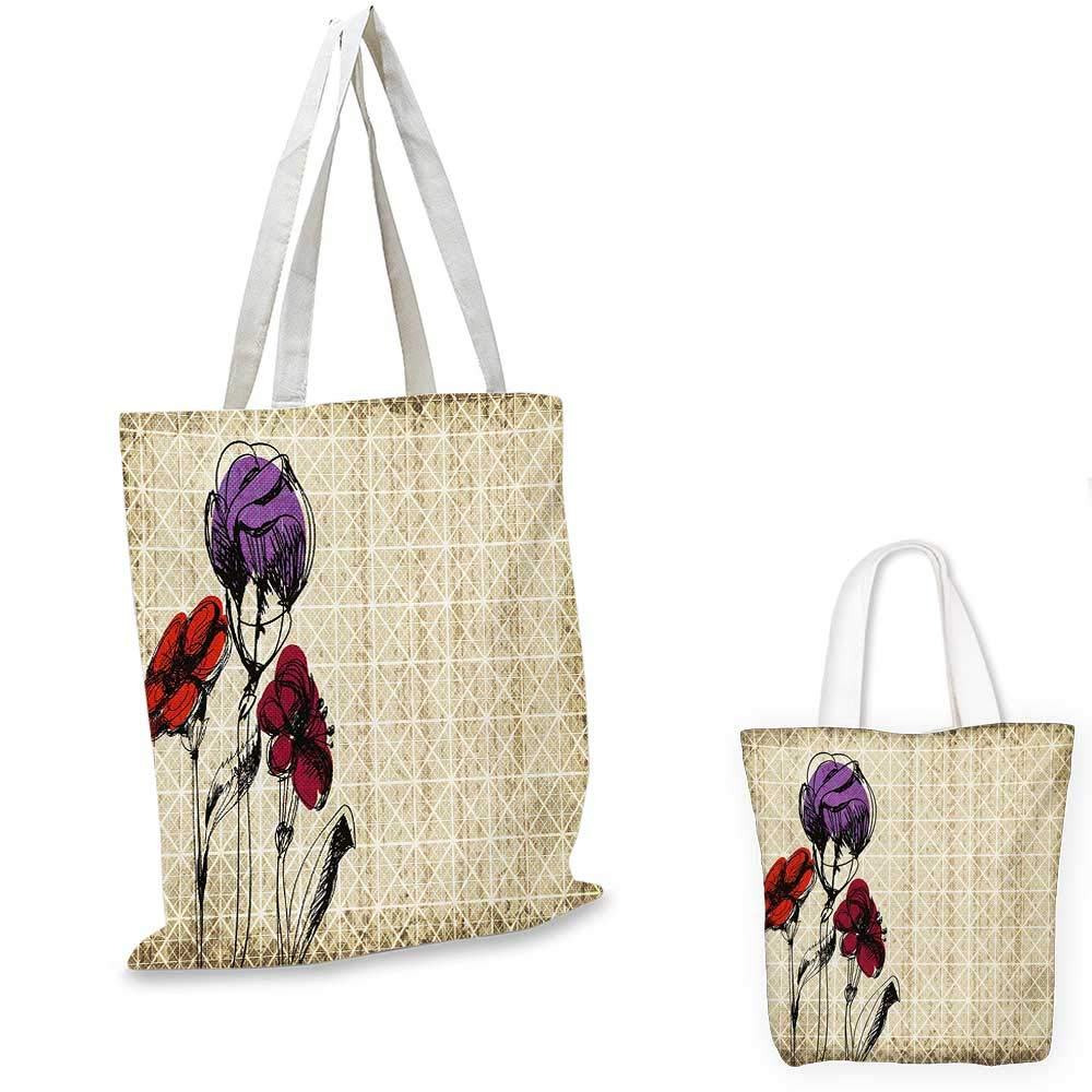 12x15-10 Floral canvas messenger bag Spring Autumn Season Time Flower Print Inspired Image with Leaves Artwork canvas beach bag Scarlet and Maroon