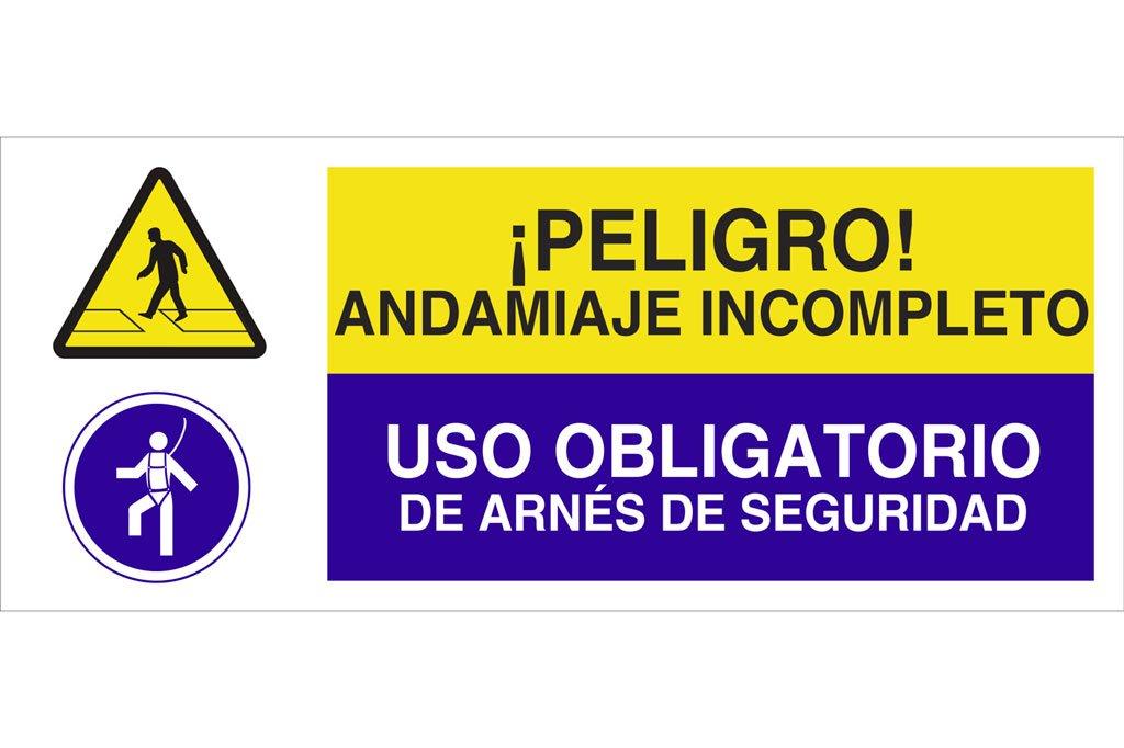 Cofan CAO26PL717297 ¡Peligro Andamiaje Incompleto/Uso Obligatorio ...