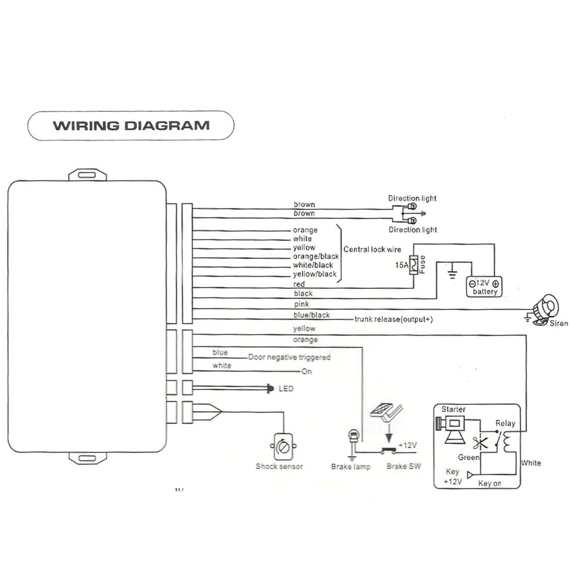 Mazur Universal Fahrzeug Remote Zentralverriegelung Battery In Trunk Wiring Diagram Elektronik