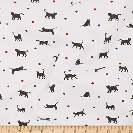76803b638d3 Image Unavailable. Image not available for. Color: Telio Organic Stretch Cotton  Jersey Cat Ecru Fabric ...