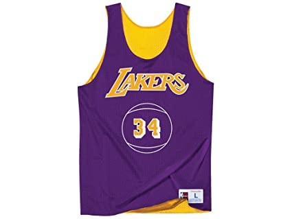 Mitchell   Ness Los Angeles Lakers Shaquille O Neal Name Number Reversible  Mesh Tank 93ff1f54f