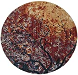 Safavieh Calista Collection CAL403A Lavender and Rust Contemporary Abstract Watercolor Round Area Rug (6' in Diameter)