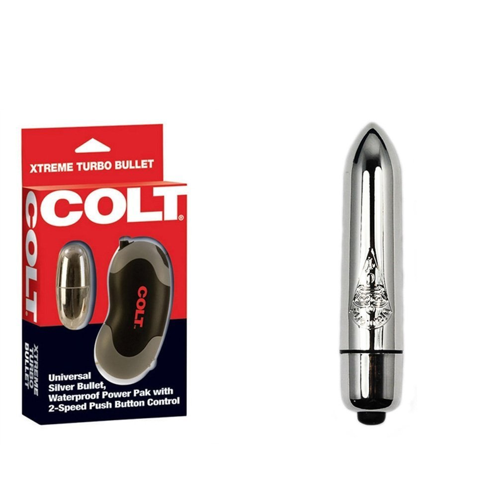 COLT XTREME TURBO BULLET SILVER WATERPROOF With New High Intensity Silver Bullet Vibrator