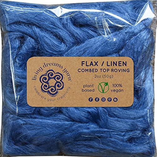- Flax Fiber for Spinning, Blending, Fiber Arts. Natural Vegan Combed Top. Marine