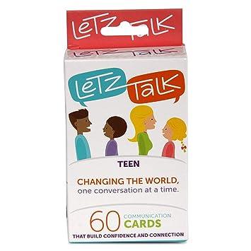 Letz Talk - Juego de cartas de conversación para adolescentes ...