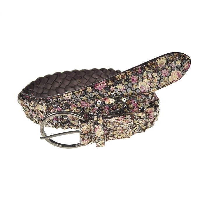 comprare on line 39101 b2ab9 Bella unico paillettes fiore tessere cintura in pelle PU, motivo ...