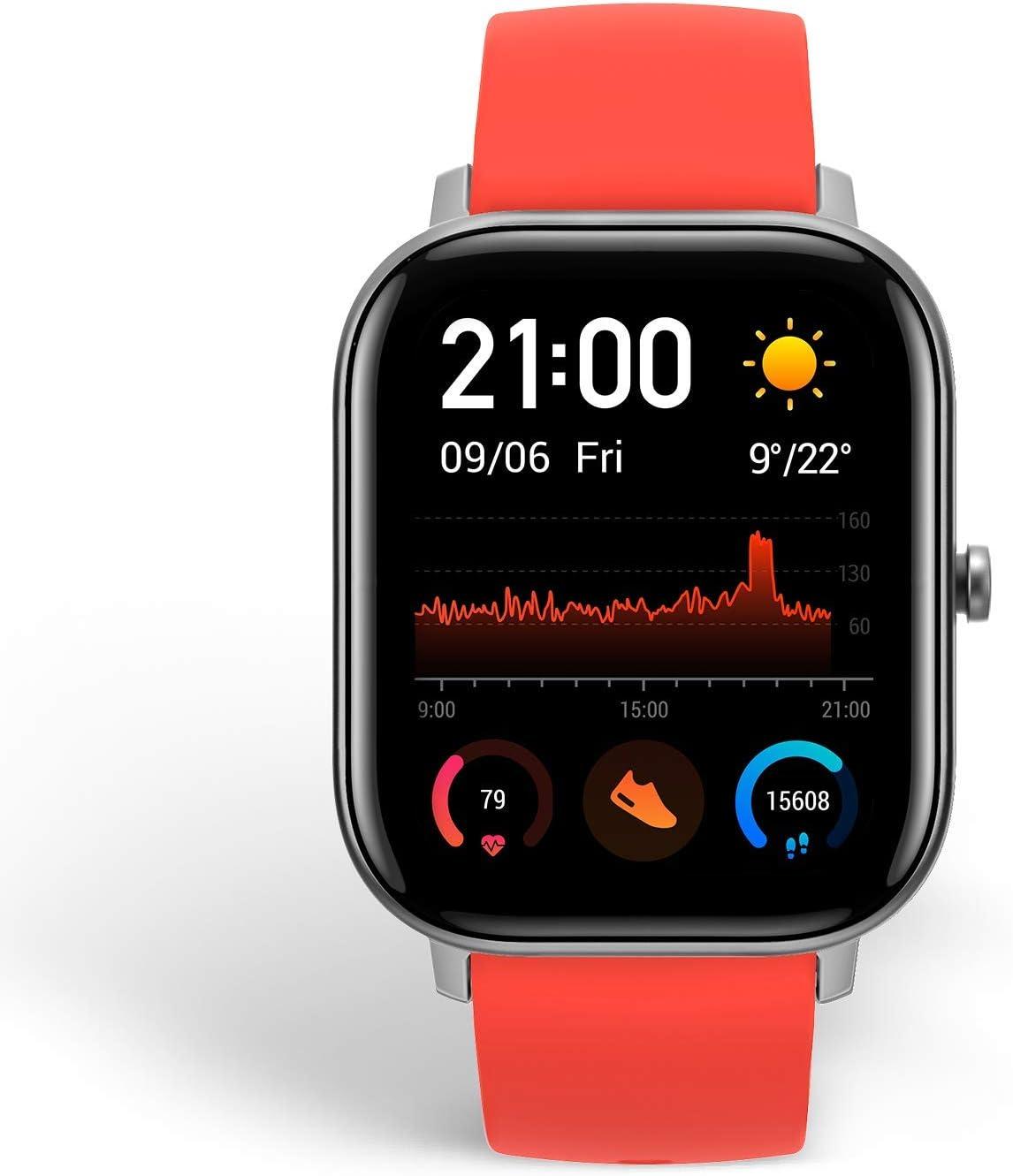 Amazfit GTS Reloj Smartwactch Deportivo | 14 días Batería | GPS+Glonass | Sensor Seguimiento Biológico BioTracker™ PPG | Frecuencia Cardíaca | Natación | Bluetooth 5.0 (iOS & Android) Orange