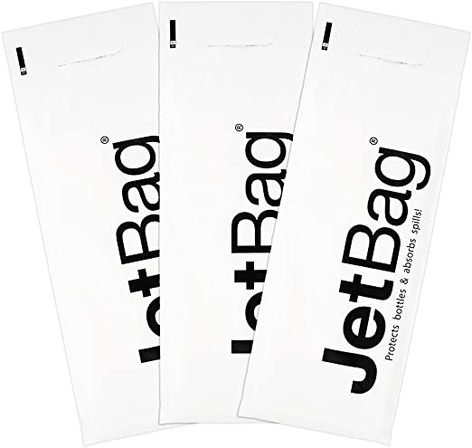 Set of 3 Made in the USA Jet Bag Bold The Original ABSORBANT Reusable and Protective Bottle Bags