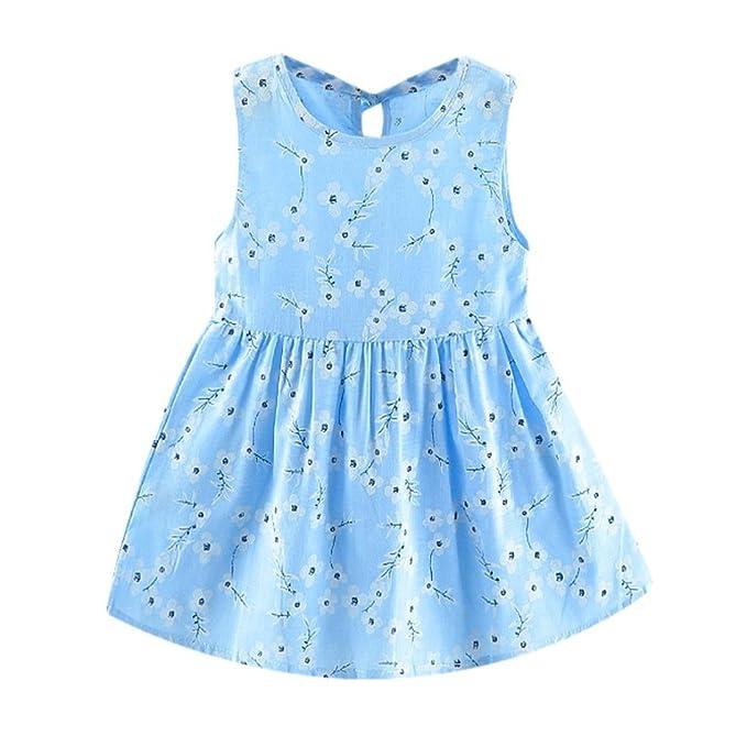 K-youth Vestido Bebé Niña Vestido Niña Floral Tutú Princesa Vestidos Sin mangas Linda Ropa