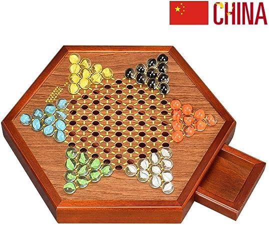 Las Damas Chinas con Canicas, Juego De Mesa De ágata, Piezas De Ajedrez, Incluyen 60 Canicas En 6 Colores para Juegos De Viaje Familiar C: Amazon.es: Hogar