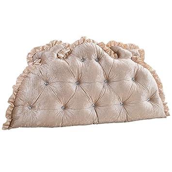 Amazon.com: LQW HOME-Cojines europeos de cama doble, cojín ...