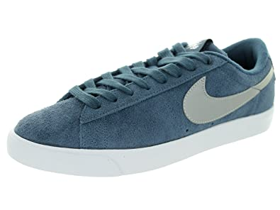 696b3e34c74d Nike Mens Blazer Low GT Squadron Blue Metallic Silver-Crimson Fabric Size 9
