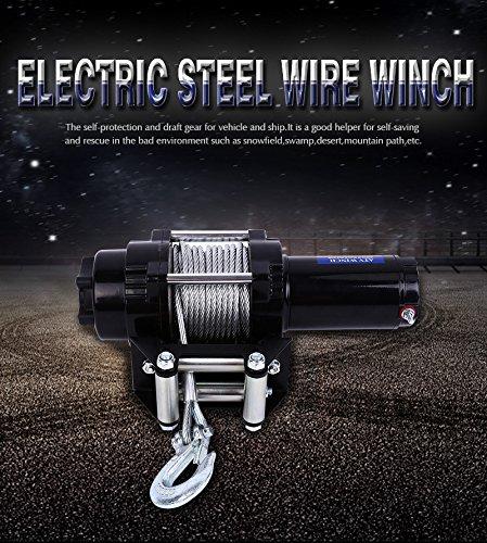 12V 4000lbs ATV Electric Recovery Winch Kit, Wireless Remote Control 12V 4WD ATV UTV Trailer Truck SUV Car by Estink (Image #3)