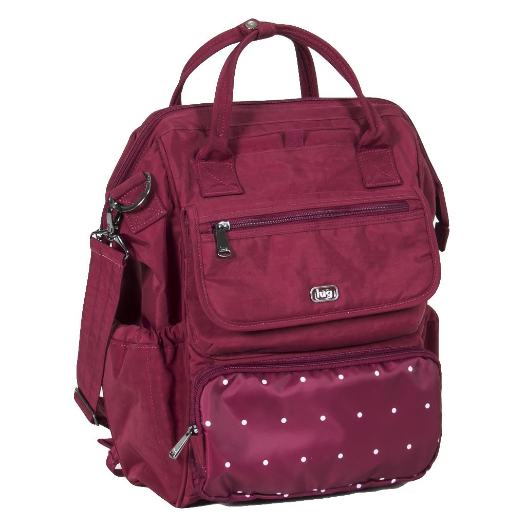 Lug Women's Via Tote Backpack, Dot Cranberry One Size