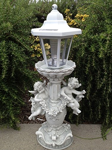 Birdbath Cherub (Directsale Outdoor Garden Decor Solar Fairy Angel/Cherub Statue Sculpture Light LED, yard decoration, solar angel lights outdoor, solar angel birdbath (Angel Cherub))