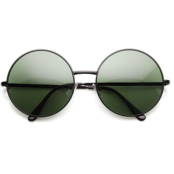6d4350f0c5 Amazon.com  Super Large Oversized Metal Round Circle Sunglasses ...