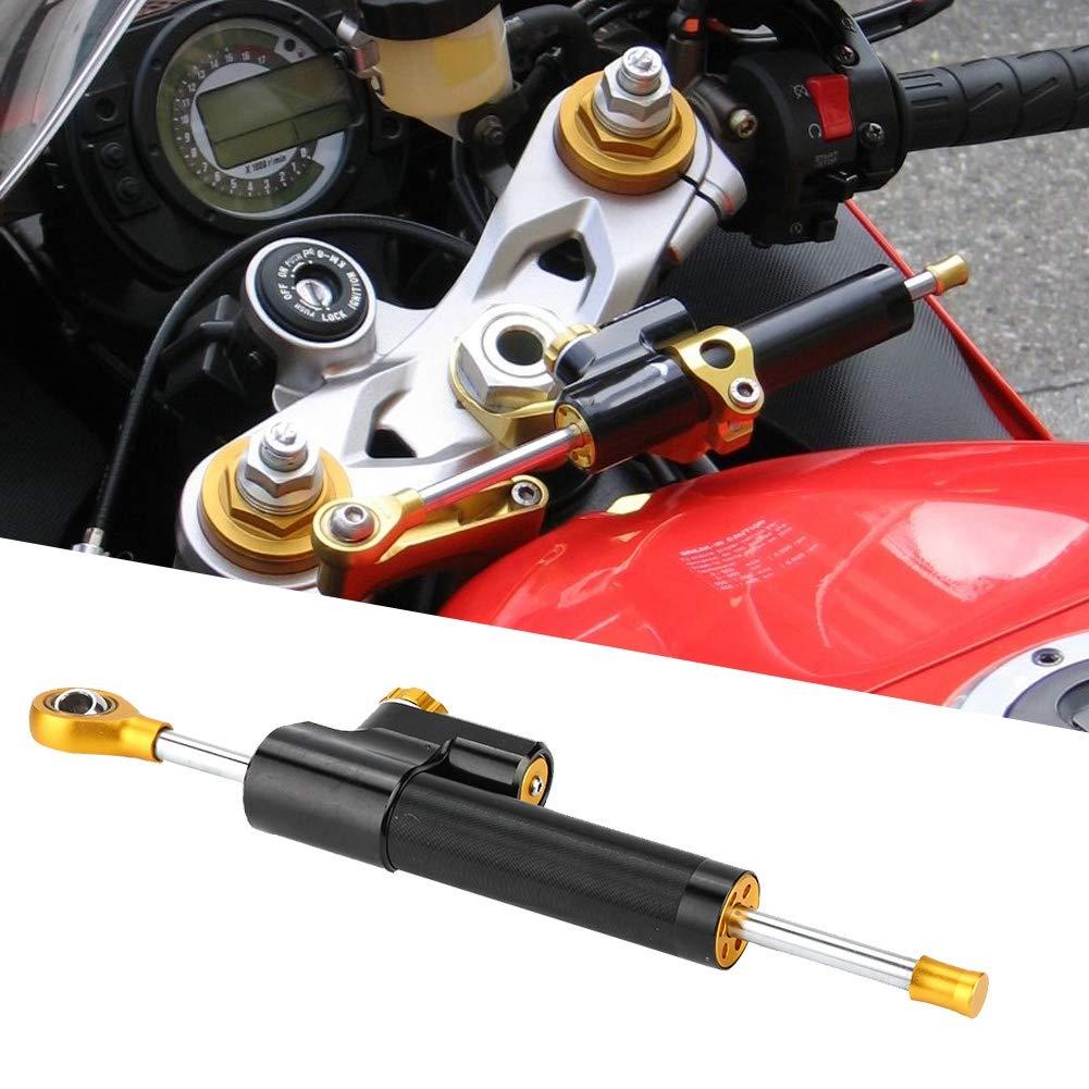 controllo di sicurezza a torsione lineare in alluminio CNC Qiilu Stabilizzatore ammortizzatore di sterzo per moto
