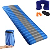 HAOBAIMEI Camping Sleeping Pad with Built In Pump. Camping sleeping mat Backpacking pad. Lightweight sleeping pad self inflatable pad. Swimming pool floating pad. Ultra thickness camping pad